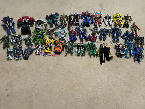 Huge Bulk Lot of Hasbro Transformers Optimus Megatron Toy Figures Bee Prime