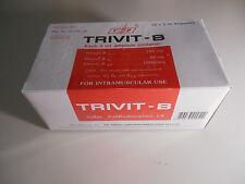 Vitamin B Complex B12 B6 B1 total 10 3ml Ampules Fresh SEALED New