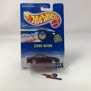 #6637  Lexus SC400 #264 * Hot Wheels Blue Card * NC20