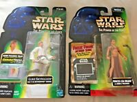 Hasbro Star Wars Figures Lot 2 Luke Skywalker & Princess Leia Organa SKU 034-016