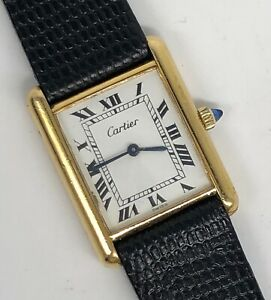 "CARTIER Mid-Size ""Tank"" Watch--Manual Wind--Excellent Running Condition"