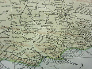 1919 LARGE MAP ~ SOUTH AFRICA RAILWAYS ~ JOHANNESBURG PRETORIA CAPE TOWN