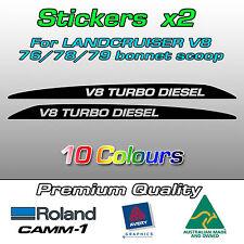 V8 TURBO DIESEL Decal Sticker for Landcruiser 76 70 78 79 series bonnet scoop