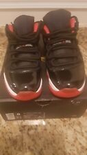 "Air Jordan 11 Retro Low Black/True Red -White ""BRED"" Men's size 8 A+ CONDITION"