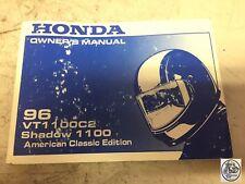 1996 HONDA VT1100C2 SHADOW 1100 AMERICAN CLASSIC EDITION OWNER'S MANUAL