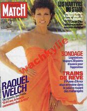 Paris Match n°1881 du 14/06/1985 Raquel Welch Football Heysel train du Rajasthan