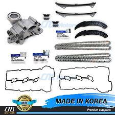 GENUINE Timing Chain Kit Oil Pump Valve Cover Gaskets for Hyundai Kia 3.3L 3.8L