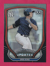 2015 Bowman Scouts Updates Top 100 Greg Bird RC Yankees Mint Free Shipping