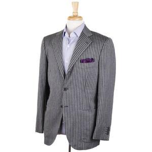 NWT $7095 KITON Gray-Charcoal Extrafine Cashmere Sport Coat Slim 40 R (Eu 50)