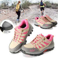 Women's summer Safety Steel Toe Cap breathable Work Hiking Mesh Trainers Shoes