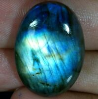 Brilliant Madagascar 100% Natural Fire Labradorite Oval Cabochon Loose Gemstone