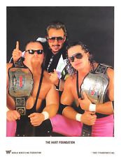WWE THE HART FOUNDATION OFFICIAL LICENSED AUTHENTIC 8.5X11 ORIGINAL PROMO PHOTO