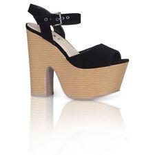 Block Heel Suede Casual Women's Peep Toe Heels