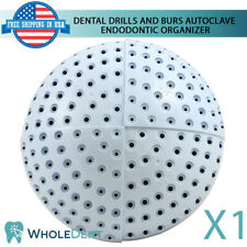 Autoclave Plastic Organizer Spin Able Dental Drills And Burs Endodontic Tool