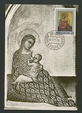 VATICAN MK 1971 GEMÄLDE MADONNA JESUS ART MAXIMUMKARTE MAXIMUM CARD MC CM c9247