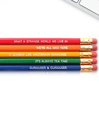 Alice in Wonderland - Inspirational Pencils Engraved With Funny And Motivational