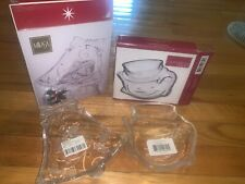 "Mikasa 7"" & 5.5"" Bell Snowman Candy Dish Christmas Celebrations New In Box Japan"