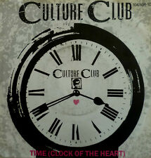 """7"""" 1982 MINT-! CULTURE CLUB : Time (Clock of the Heart)"""