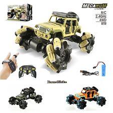 1:16 RC Gesture Hand Control Car 2 Remote Drift Stunt Rock Crawler w/ Metal Body