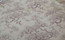 Interior Fabric Design Cotton Print 1981 Pine Cone Asian Katagami Like 10 yards