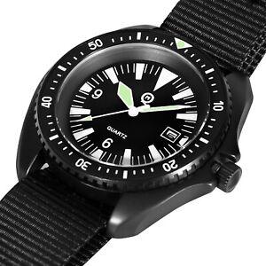 Royal Navy / SBS Military Divers Watch Black pvd finish