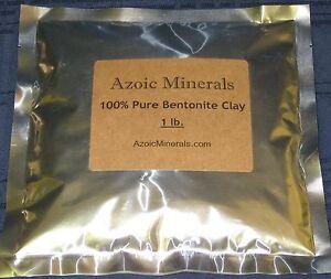 Pure Calcium Bentonite Clay - Natural Deep Cleansing & Healing Clay, 1oz - 5lbs