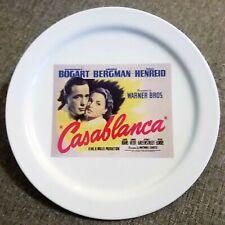 "Rare! POTTERY BARN ""Casablanca"" Humphrey Bogart TCM Film 8"" Plate! FREE S/H!"