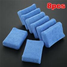 8pc Blue Microfiber Foam Sponge Polish Wax Applicator Car Detailing Cleaning Pad