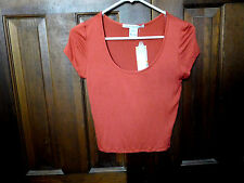 New w/Tags American Rag Cie Cute top, short sleeves Made in USA  Size S