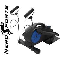 Mini Elliptical Exercise Bike Seated Trainer Under Desk Pedal Compact Nero Sport