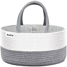 Diaper Caddy Organizer -Cotton Rope Nursery Changing Table Storage Basket Org.