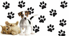 DOG CAT PET PAW PRINTS GROUP OF 12 Vinyl Wall Decal Decor Stickers 3.5""