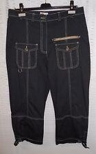 Trendige Damen 7/8 Cargo Jeans Ciccia Bella Stretch Farbe Dunkelblau Größe 42
