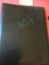 WEATERN UNIVERSITY-Black Leather Padfolio Notepad Planner Pocket Holder-PADFOLIO