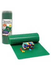 Two Sided Silicone Brick Building Play Mat Rollable Works with Lego & Duplo 32""