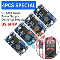 4X LM2596S 3A DC Buck Step-down Adjustable Voltage Power Converter Voltmeter
