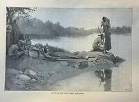 1885 Native American Habitats on the East Coast Duxbury Plymouth Illustrations