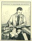 Germany Preparation test cigarettes TOBACCO HISTORY HISTOIRE DU TABAC CARD 30s
