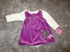 Miniville Baby Girls 2 Piece Plum Color Jumper Long Sleeve Bodysuit 6 Mo NWT NEW
