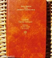 Crónica de una muerte anunciada/ G. G. Márquez/ 1ª edición/ Seix Barral/ 1983