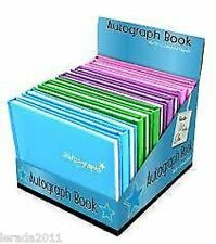 AUTOGRAPH BOOKS BLANK TOP QUALITY PADDED HARDBACK  SCHOOL LEAVERS  SPORTS MUSIC