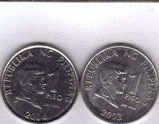 2 DIFFERENT 1 PISO COINS from the PHILIPPINES DATING 2003 & 2004