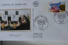 ENVELOPPE PREMIER JOUR SOIE 1992 JOURNEE DU TIMBRE