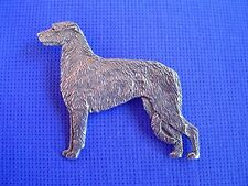 Irish Wolfhound Pewter Pin STANDING #21C Hound Dog Jewelry by Cindy A. Conter
