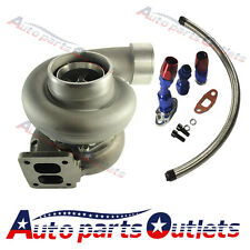 """TRIM TURBO CHARGER OIL FEED+DRAIN LINE GT45 600+HP T4/T66 3.5""""V-BAND 1.05 A/R 92"""