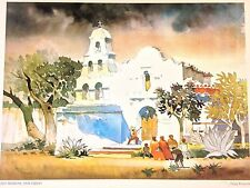 DONG KINGMAN Old Mission San Diego Lithograph 1979