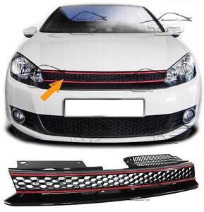 GRIGLIA CALANDRA ANTERIORE NO LOGO PER VW GOLF 6 08-12 GTI LOOK NEW GOLF VI