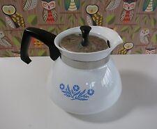 Vintage Corningware Blue Cornflower 6 cup Stove Top Tea Pot Ceramic Carafe