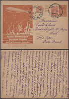 1932 RUSSIA USSR Postal Stationery Postcard Cover to Germany Zeppelin
