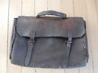 hipster Original Art Deco ww2 RAILWAYANIA SNCF FRANCE French rivetted Briefcase